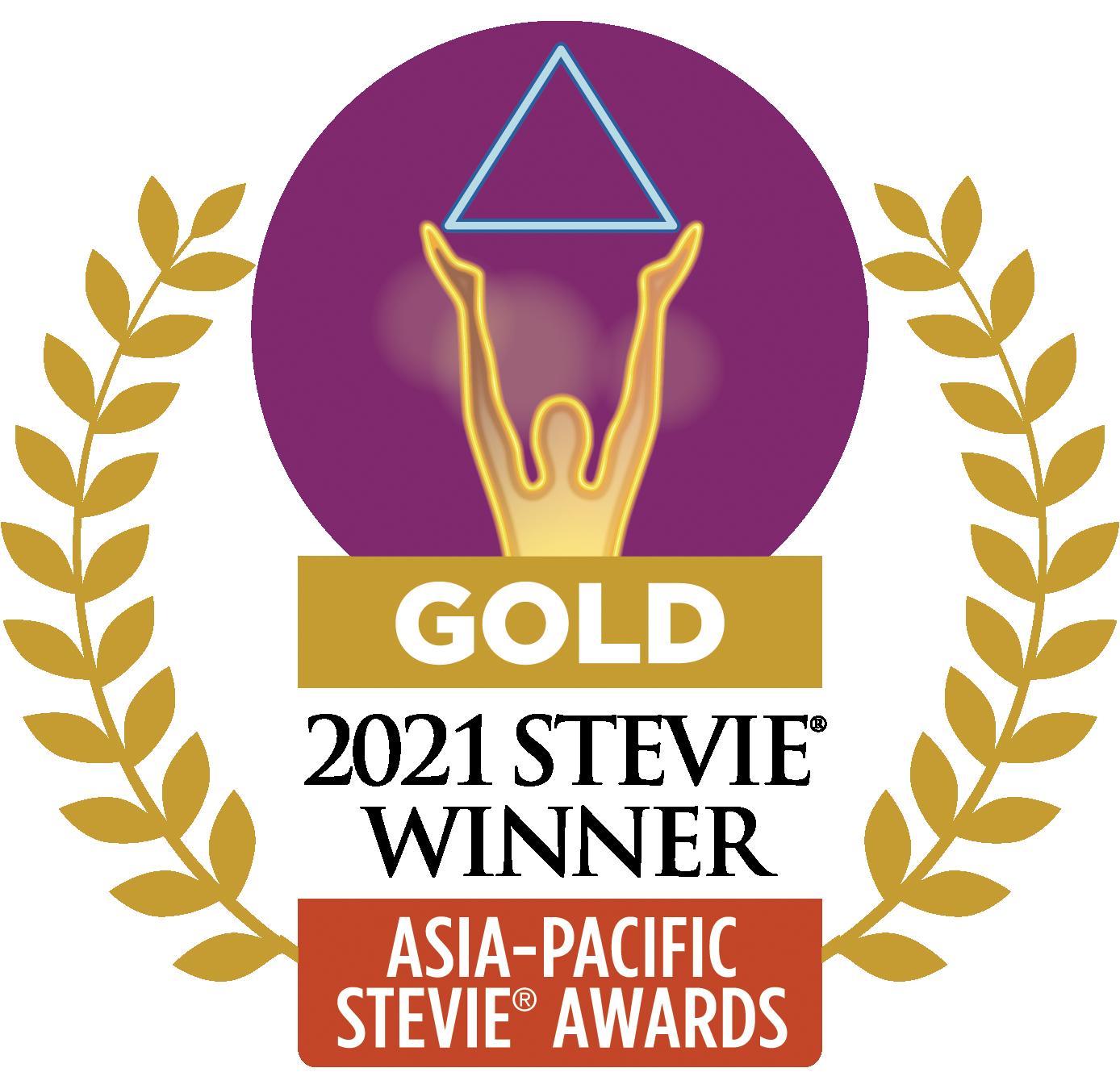 GoldAsia-Pacific Stevie Award Winner